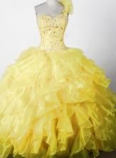 2012 Elegant Ball Gown One-shouldder Floor-length Little Gril Pagant Dress Style RFGDC046