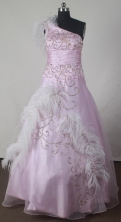 2012 Elegant Ball Gown One-shoulder Floor-length Little Gril Pagant Dress Style RFGDC049