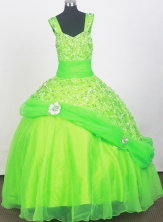 2012 Elegant Ball Gown Strap Floor-length Little Gril Pagant Dress Style RFGDC079