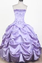 2012 Elegant Ball Gown Strapless Floor-length Little Gril Pagant Dress  Style RFGDC063