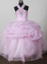 2012 Elegant Ball Gown V-neck Floor-length Flower Girl Dress  Style RFGDC022