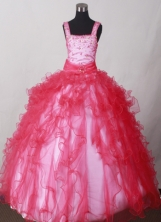 2012 Exquisite Ball Gown Square Floor-length Flower Girl Dress  Style RFGDC013