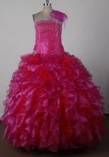 2012 Exquisite Ball Gown Strapless Floor-length Flower Girl Dress Style RFGDC036