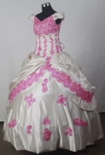 2012 Fashionable Ball Gown Off The Shoulder Floor-length Flower Girl Dress Style RFGDC038