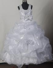 2012 Fashionable Ball Gown Scoop Floor-length Flower Girl Dress Style RFGDC034