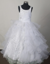 2012 Gorgeous Ball Gown Scoop Floor-length Flower Girl Dress Style RFGDC08