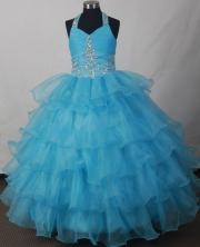 2012 Lovely Ball Gown Halter Top Floor-length Flower Girl Dress Style RFGDC018