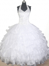 2012 Lovely Ball Gown Halter Top Floor-length Little Gril Pagant Dress Style RFGDC072