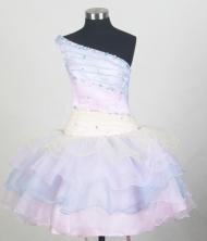 2012 Lovely Ball Gown One-shoulder Floor-length Flower Girl Dress  Style RFGDC088