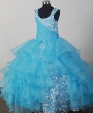 2012 Lovely Ball Gown Scoop Floor-length Flower Girl Dress  Style RFGDC0122