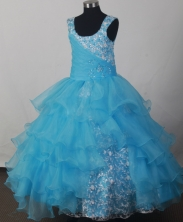 2012 Lovely Ball Gown Scoop Floor-length Flower Girl Dress Style RFGDC0122