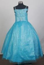 2012 Lovely Ball Gown Strap Floor-length Flower Girl Dress Style RFGDC0109