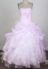 2012 Lovely Ball Gown Strapless Floor-length Flower Girl Dress Style RFGDC092