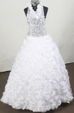 2012 Luxurious Ball Gown Halter Top Floor-length Flower Girl Dress  Style RFGDC089
