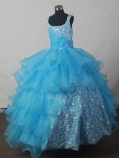 2012 Luxurious Ball Gown Scoop Floor-length Flower Girl Dress Style RFGDC039