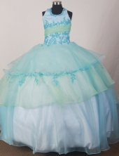 2012 Modest Ball Gown Halter Top Floor-length Flower Girl Dress  Style RFGDC0121