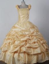 2012 Modest Ball Gown Square Floor-length Flower Girl Dress Style RFGDC035