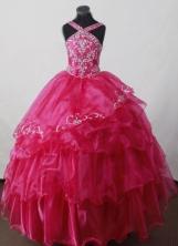 2012 Perfect Ball Gown V-neck Floor-length Flower Girl Dress  Style RFGDC023