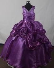 2012 Perfect Ball Gown V-neck Floor-length Flower Girl Dress Style RFGDC04