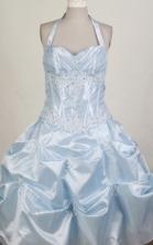 2012 Pretty Ball Gown Halter Top Floor-length Flower Girl Dress  Style RFGDC0103