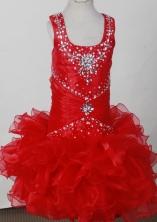 2012 Pretty Ball Gown Scoop Floor-length Flower Girl Dress  Style RFGDC0117