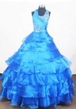 2012 Pretty Ball Gown Scoop Floor-length Little Gril Pagant Dress Style RFGDC075
