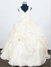 2012 Pretty Ball Gown V-neck Floor-length Flower Girl Dress  Style RFGDC093
