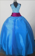 2012 Sweet Ball Gown Halter Top Floor-length Little Gril Pagant Dress  Style RFGDC054