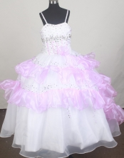 2012 Sweet Ball Gown Spaghetti Straps Floor-length Little Gril Pagant Dress Style RFGDC080