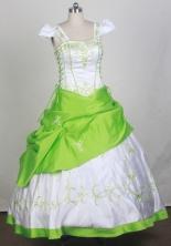 2012 Sweet Ball Gown Square Floor-length Flower Girl Dress Style RFGDC0111