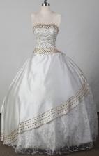 2012 Sweet Ball Gown Strapless Floor-length Flower Girl Dress Style RFGDC029