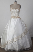 2012 Sweet Ball Gown Strapless Floor-length Flower Girl Dress Style RFGDC029