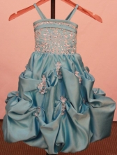 Beaded Ball gown Strap Floor-Length Little Girl Pageant Dresses Style FA-Y-339