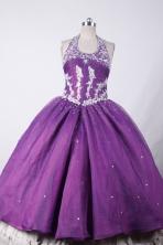 Beautiful Ball Gown Halter Top Neck Floor-Length Flower Girl Dresses SLHJ42311