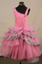 Beautiful Ball gown One-shoulder Neck Floor-length Flower Girl Dresses Style FA-C-148
