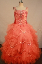 Beautiful Ball gown Strap Floor-length Litter Girl Dress Style FA-W-293