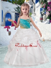 Beautiful Spaghetti Straps Flower Girl Dresses with Appliques and Bubles FGL299FOR