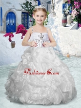 Beautiful Spaghetti Straps Flower Girl Dresses with Beading and Bubles FGL305FOR