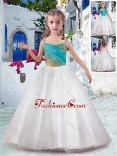 Best Ball Gown Flower Girl Dresses with Appliques and Beading FGL293FOR