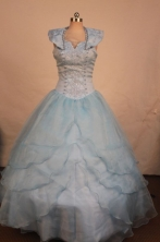 Best Ball gown Scoop neck Floor-Length Little Girl Pageant Dresses Style FA-Y-313