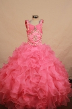 Best Ball gown Scoop neck Floor-Length Little Girl Pageant Dresses Style FA-Y-314
