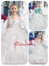 Best Spaghetti Straps Flower Girl Dresses with Beading and Bubles FGL302FOR