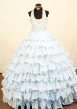 Brand new Ball Gown Halter Floor-Length Little Girl Pageant Dresses Style FA-Y-333