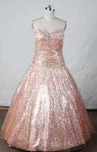 Brand new Ball Gown Sweetheart Neck Floor-Length Light Pink Beading Flower Girl Dresses Style FA-S-4