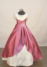 Classical Ball gown Scoop Floor-length Flower Girl Dresses Style FA-C-159