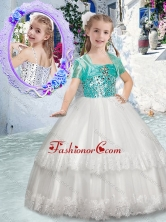 Customized Spaghetti Straps Flower Girl Dresses with Beading and Lace FGL298FOR