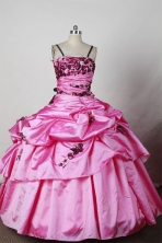 Discount Ball Gown Strap Floor-Length Appliques Little Girl Pageant Dresses Style FA-Y-300