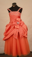 Discount Ball gown Strap Floor-Length Little Girl Pageant Dresses Style FA-Y-319