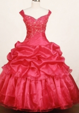 Elegant Ball Gown Off The Shulder Floor-Length Little Girl Pageant Dresses Style FA-Y-328
