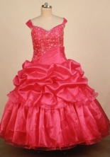 Elegant Ball gown Off the shulder neck Floor-Length Little Girl Pageant Dresses Style FA-Y-328